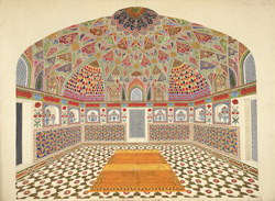 Interior of the mausoleum of Itimad-al-Daula, Agra 1780